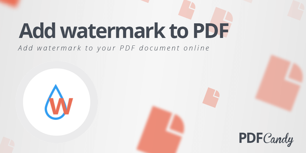 Add watermark to PDF online for free!