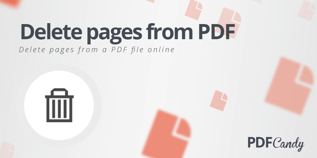 pdf file editor delete pages