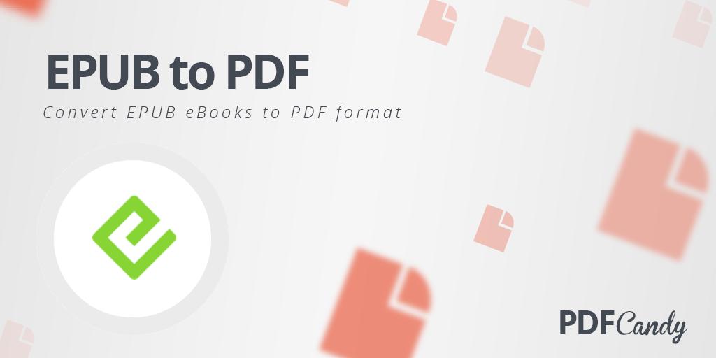 convert epub to pdf online free