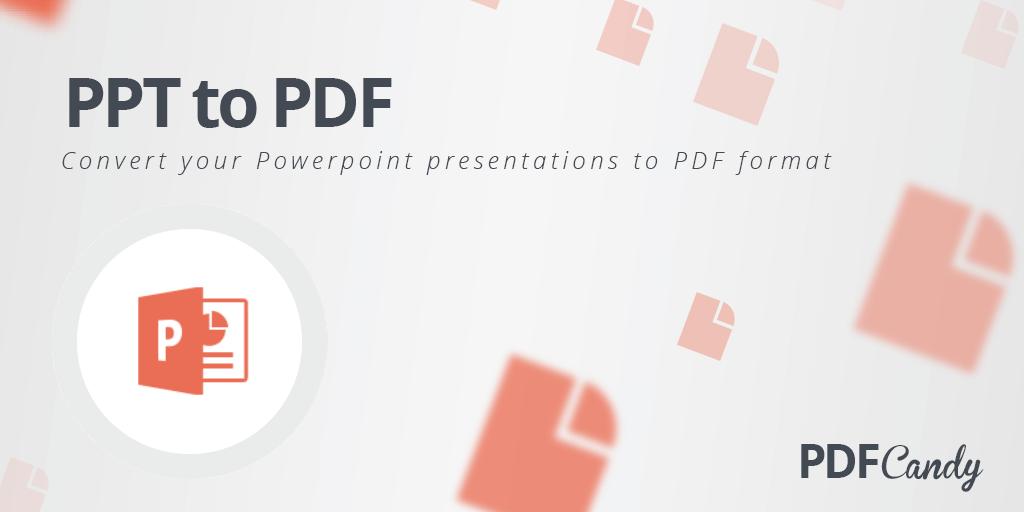 convertir ppt a pdf online free