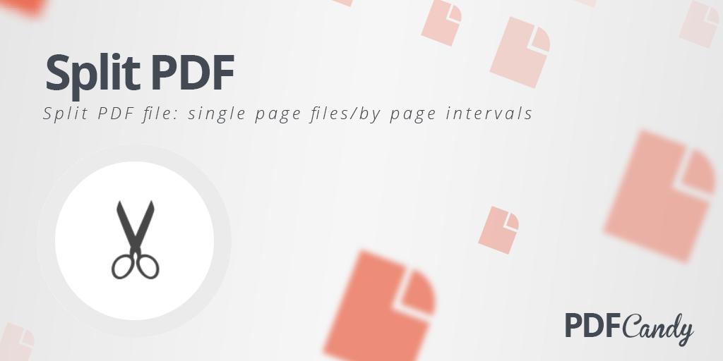 Split PDF – Free Online PDF Splitter